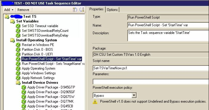 ConfigMgr: Logging the Time Taken to Run a Task Sequence